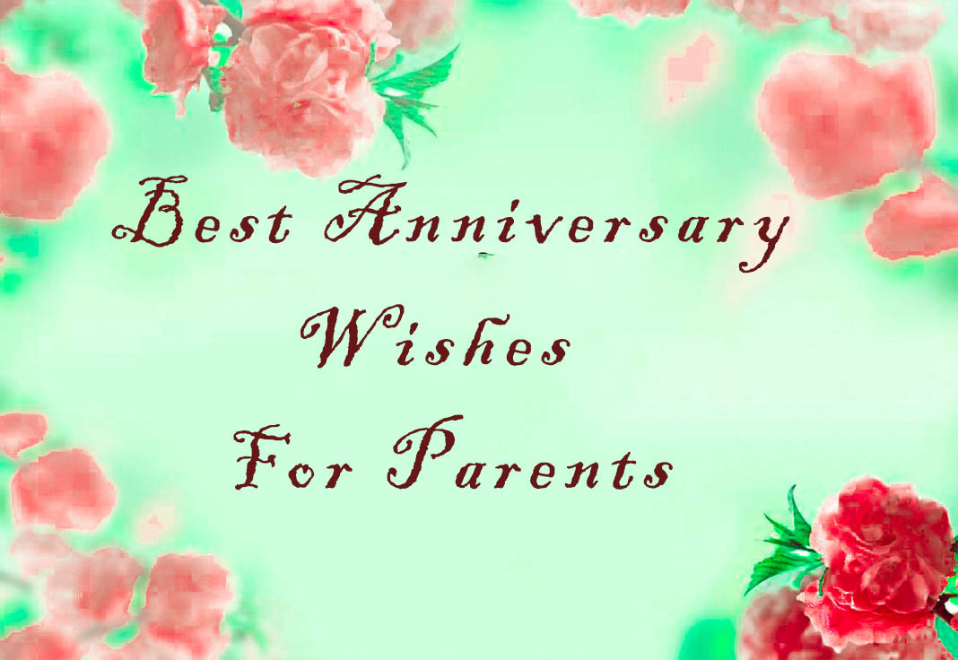 Wedding anniversary for parents