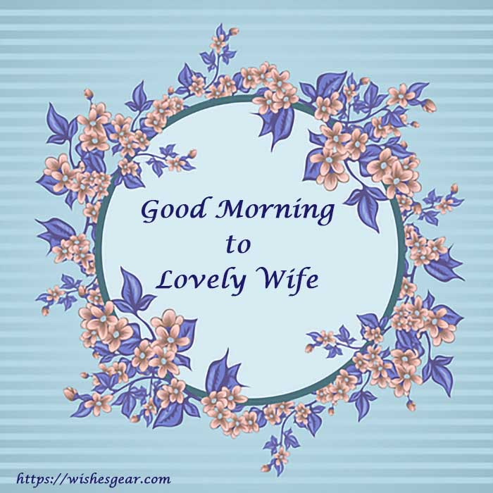 Good morning image for wife